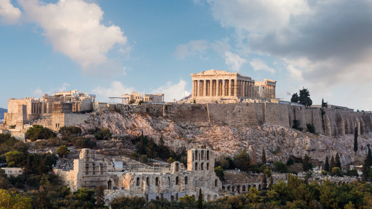 Athens Monuments, the Acropolis and the New Museum